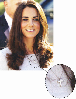 Kate with a Diamond Cross Necklace