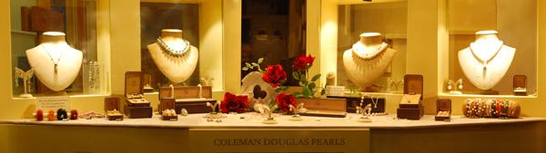 Coleman Douglas Pearls Valentine's Day Window