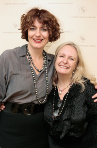 Anna Chancellor and Chrissie Douglas