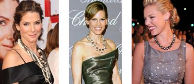 Celebrities wearing pearls