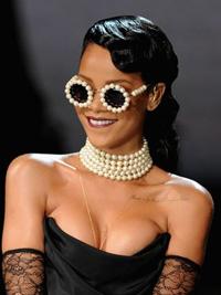 Rihanna in pearls