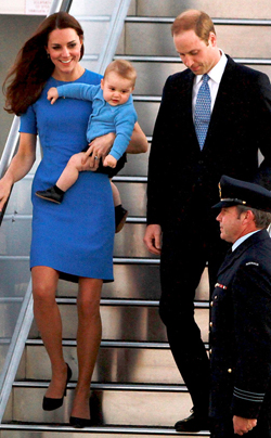 Kate with prince george