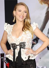 Scarlett Johansson at CAPTAIN AMERICA Premiere