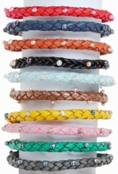 christmas Pearl & Leather Bracelets