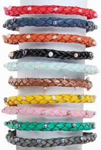 christmas Pearl & Leather Bracelets
