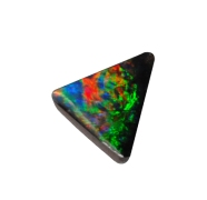 Small triangular opal