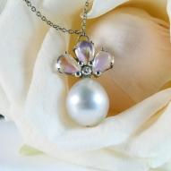 ss + moonstone pendant + rose